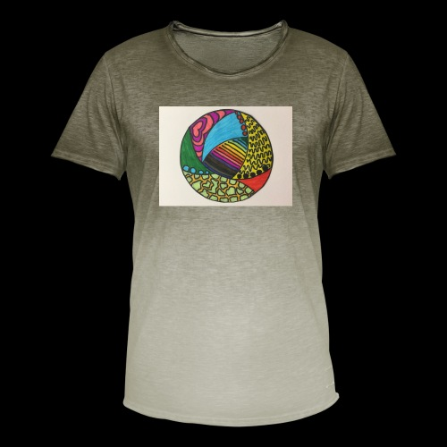 circle corlor - Herre T-shirt i colour-block-optik