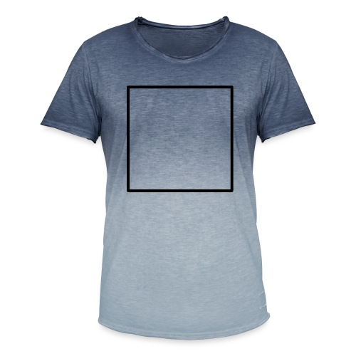Square t shirt black - Mannen T-shirt met kleurverloop