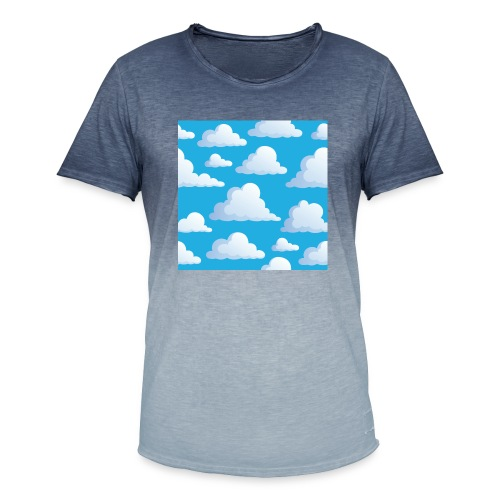 Cartoon_Clouds - Men's T-Shirt with colour gradients