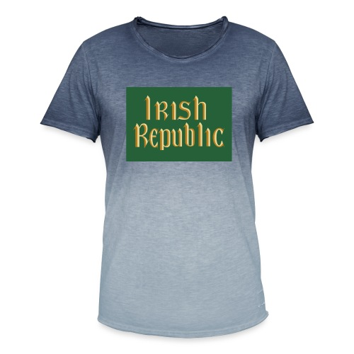 Original Irish Republic Flag - Men's T-Shirt with colour gradients
