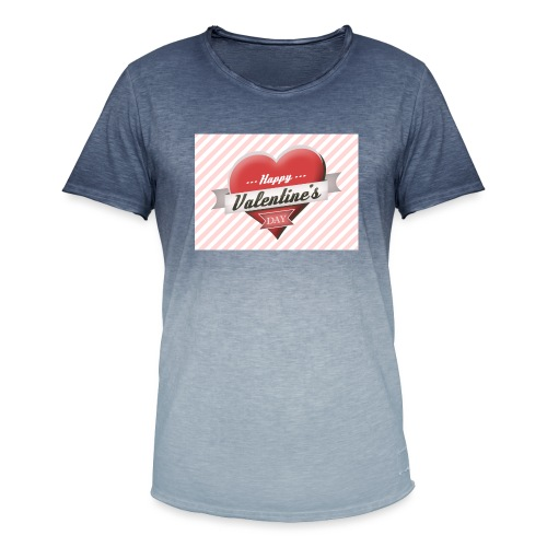 happy valentines day - Men's T-Shirt with colour gradients