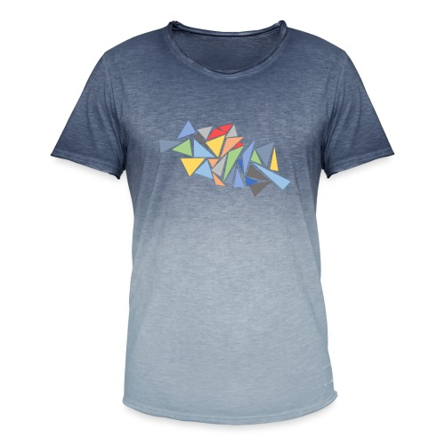Modern Triangles - Men's T-Shirt with colour gradients