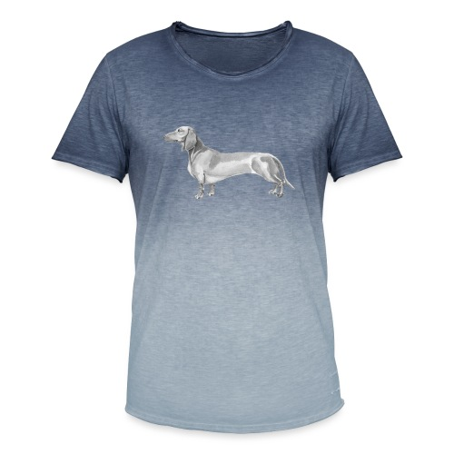 Dachshund smooth haired - Herre T-shirt i colour-block-optik