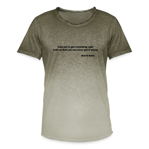 Train not to get something right train to... - Herre T-shirt i colour-block-optik