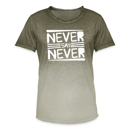 Never Say Never - Camiseta degradada hombre