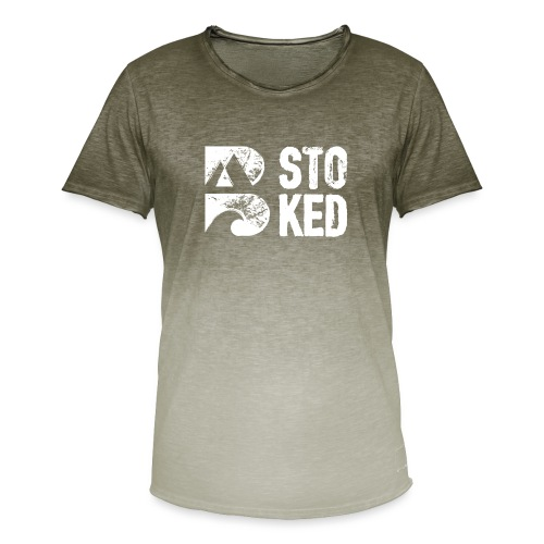 bstoked logo white - Men's T-Shirt with colour gradients