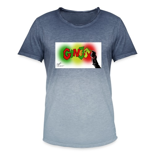 Ganja - Herre T-shirt i colour-block-optik