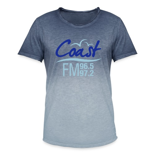 Coast FM colour logo - Men's T-Shirt with colour gradients