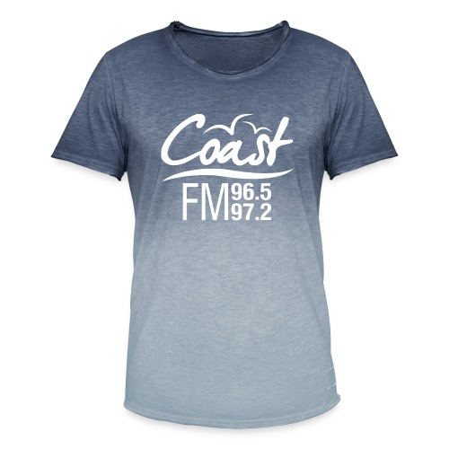 Coast FM single colour print - Men's T-Shirt with colour gradients