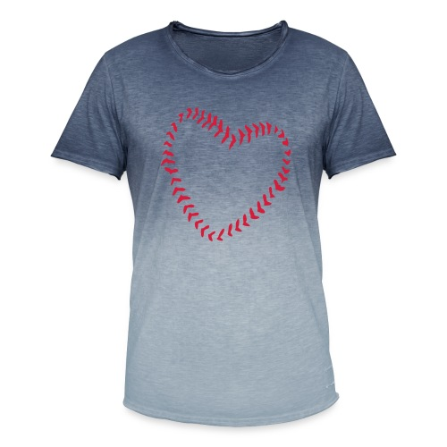2581172 1029128891 Baseball Heart Of Seams - Men's T-Shirt with colour gradients