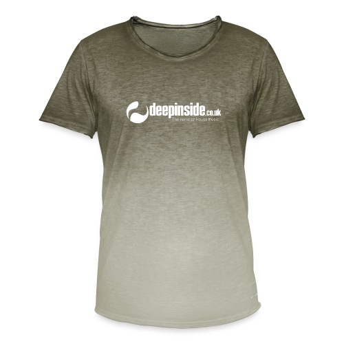 DEEPINSIDE The home of House-Music (White) - Men's T-Shirt with colour gradients
