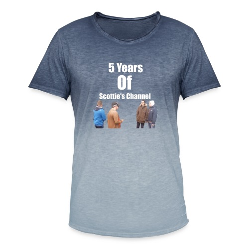 5 Years Of Scottie's Channel - Men's T-Shirt with colour gradients