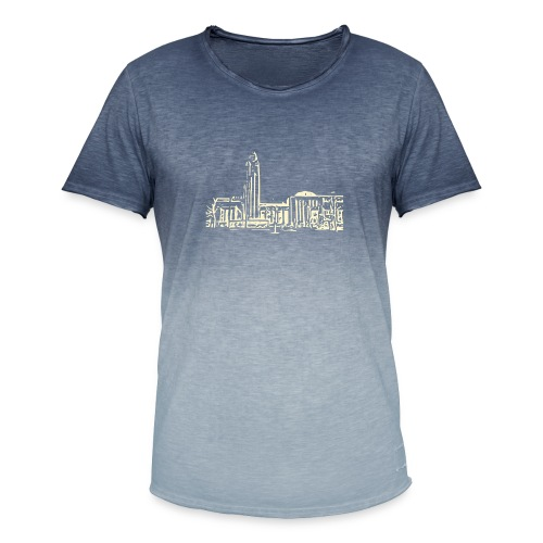 Helsinki railway station pattern trasparent beige - Men's T-Shirt with colour gradients