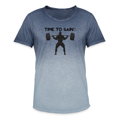 TIME TO GAIN! by @onlybodygains - Men's T-Shirt with colour gradients