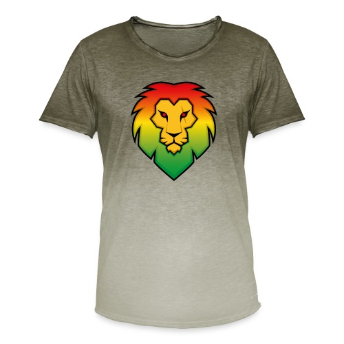 Ragga Lion - Men's T-Shirt with colour gradients