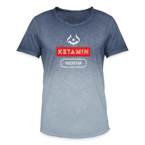 KETAMIN Rock Star - Weiß/Rot - Modern - Men's T-Shirt with colour gradients