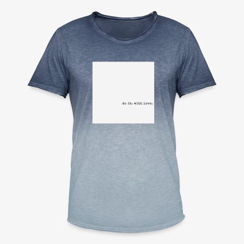 do it with love - Men's T-Shirt with colour gradients