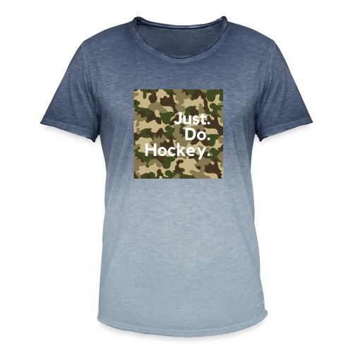 Just.Do.Hockey 2.0 - Mannen T-shirt met kleurverloop