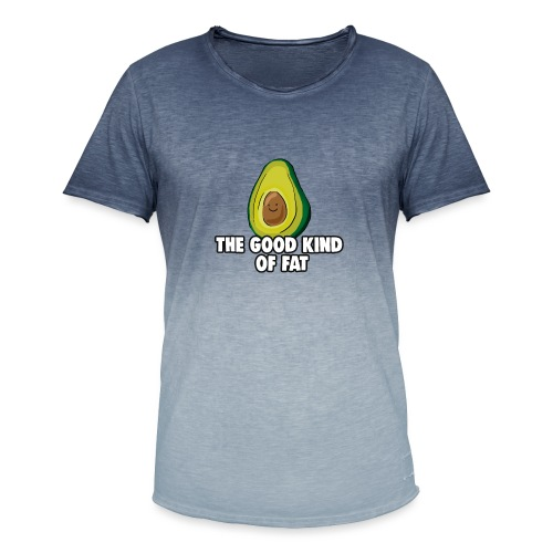 Avocado: The Good Kind of Fat - Men's T-Shirt with colour gradients