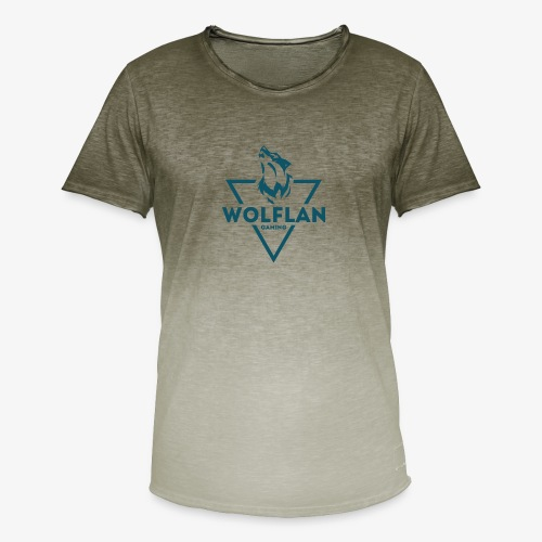 WolfLAN Logo Gray/Blue - Men's T-Shirt with colour gradients