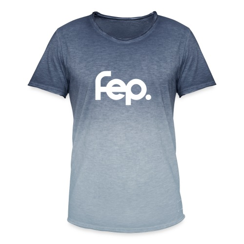 FEP logo with - Men's T-Shirt with colour gradients