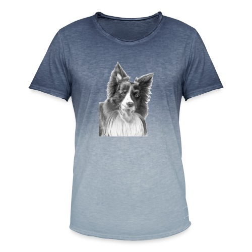border collie 3 - Herre T-shirt i colour-block-optik