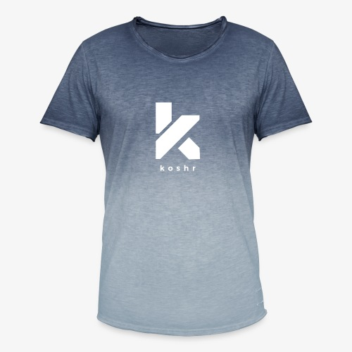 Koshr Official Logo - - Men's T-Shirt with colour gradients