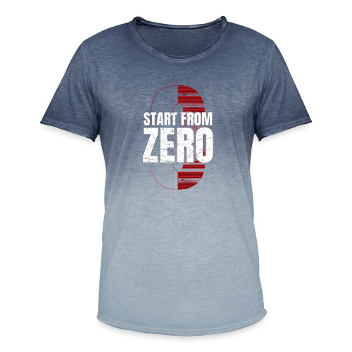 Start from ZERO - Men's T-Shirt with colour gradients
