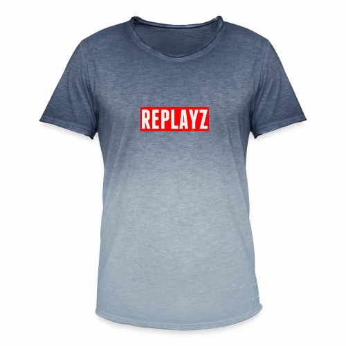 Replayz Red Box Logo - Men's T-Shirt with colour gradients