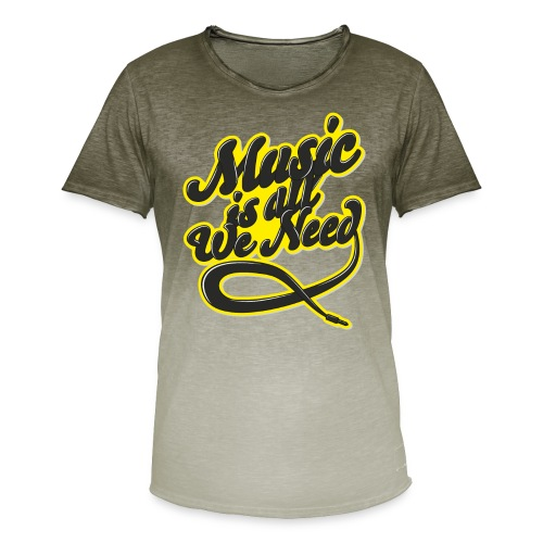 Music Is All We Need - Men's T-Shirt with colour gradients
