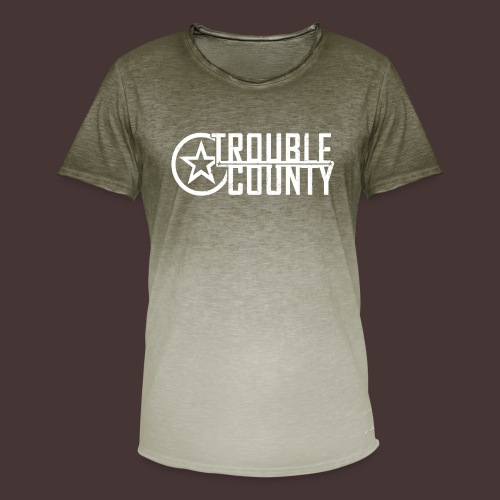 Trouble County Logo - Men's T-Shirt with colour gradients