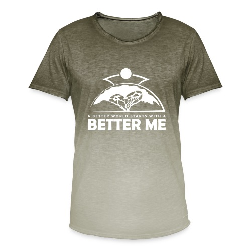Better Me - White - Men's T-Shirt with colour gradients