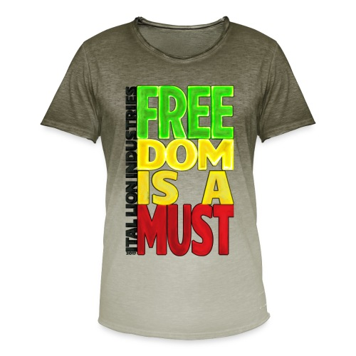 Freedom is a must - Men's T-Shirt with colour gradients