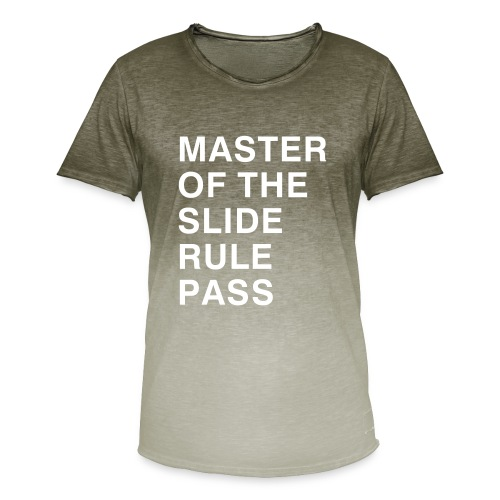 Master of the Slide Rule Pass - Men's T-Shirt with colour gradients