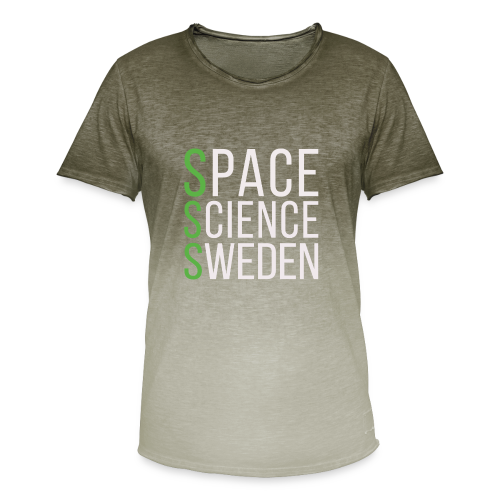 Space Science Sweden - vit - T-shirt med färgtoning herr