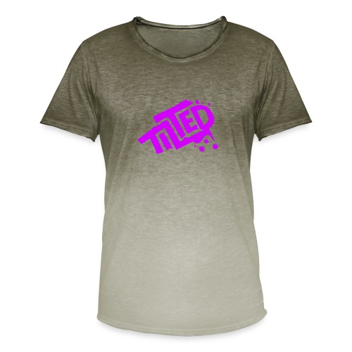 Fortnite Tilted (Pink Logo) - Men's T-Shirt with colour gradients