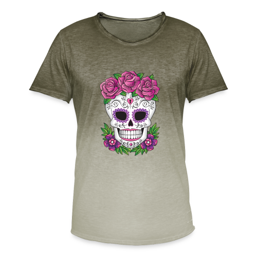 SUGAR SKULL 01 - Men's T-Shirt with colour gradients