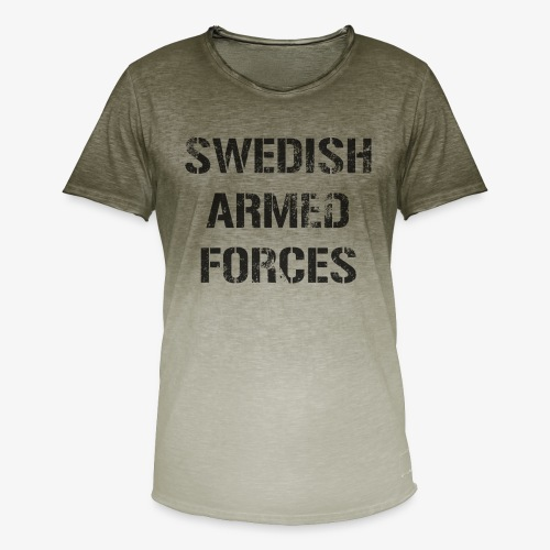 SWEDISH ARMED FORCES Rugged + SWE Flag - T-shirt med färgtoning herr