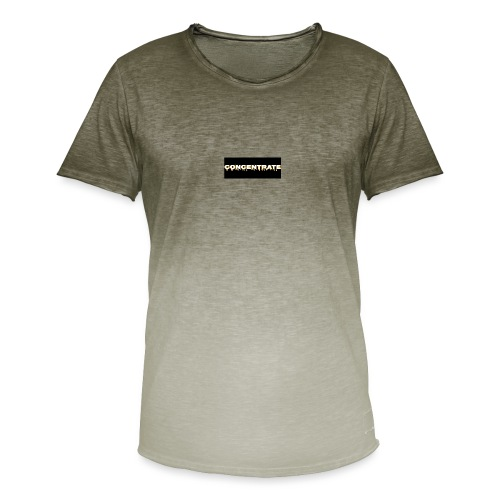 Concentrate on black - Men's T-Shirt with colour gradients