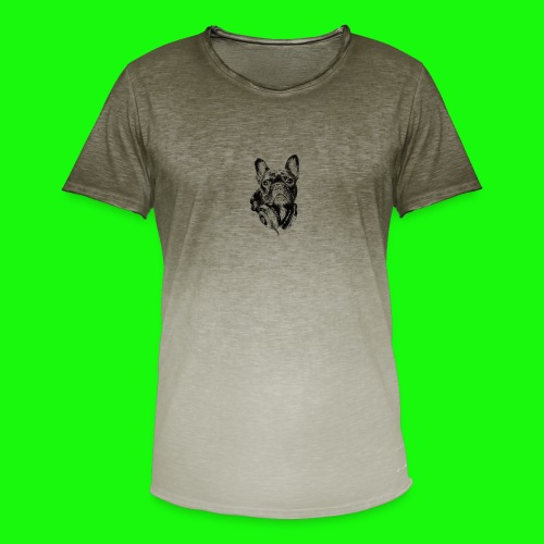 Small_Dog-_-_Bryst_- - Herre T-shirt i colour-block-optik