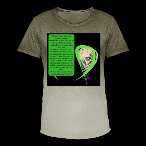 Macbeth Mental health awareness - Men's T-Shirt with colour gradients
