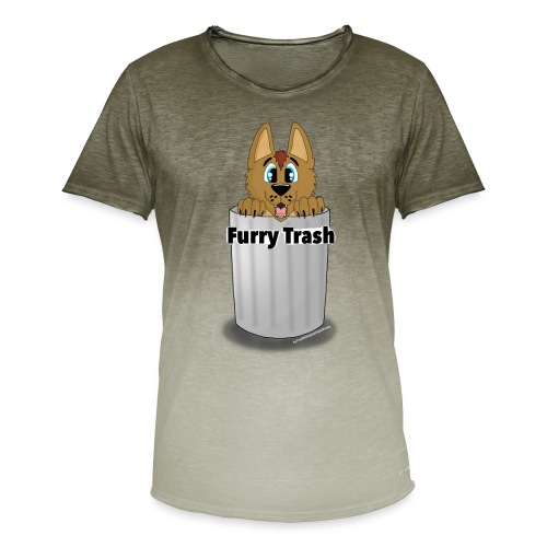 Furry Trash - Herre T-shirt i colour-block-optik