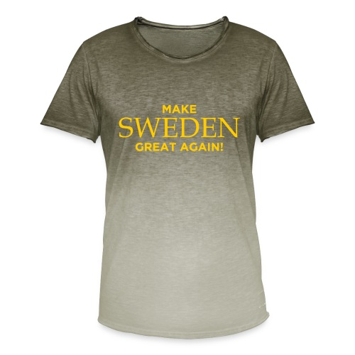 Make Sweden Great Again! - T-shirt med färgtoning herr
