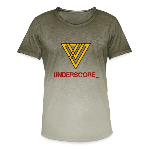 Underscore Yellow Red - Men's T-Shirt with colour gradients