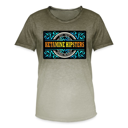 Black Vintage - KETAMINE HIPSTERS Apparel - Men's T-Shirt with colour gradients