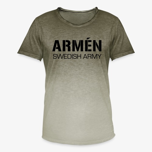 ARMÉN -Swedish Army - T-shirt med färgtoning herr