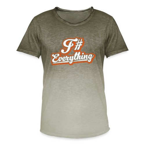 F# Everything - Men's T-Shirt with colour gradients
