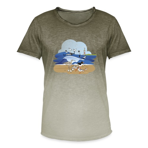 See... birds on the shore - Men's T-Shirt with colour gradients