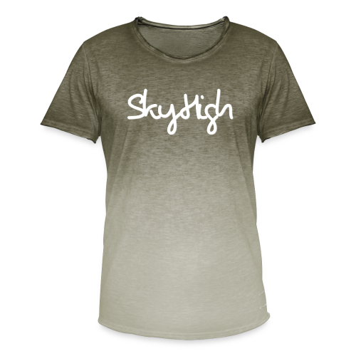SkyHigh - Men's Premium T-Shirt - White Lettering - Men's T-Shirt with colour gradients