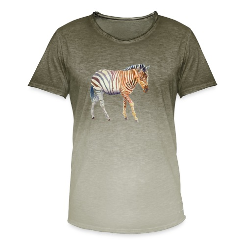 Zebra grants - Herre T-shirt i colour-block-optik